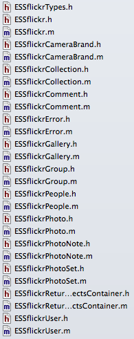 ESSflickr classes in flickery 2