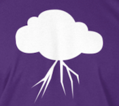 Eternal Storms Software Cloud Logo on T-Shirt
