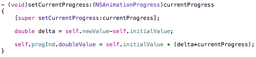 NSAnimation's setCurrentProgress method