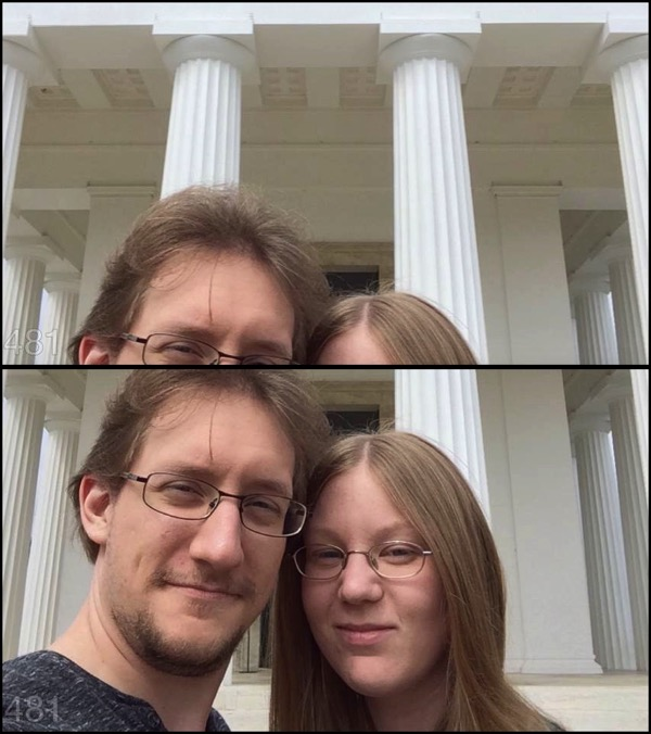Briefly without and with face detection