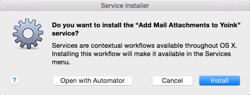 Automator - Service Installation