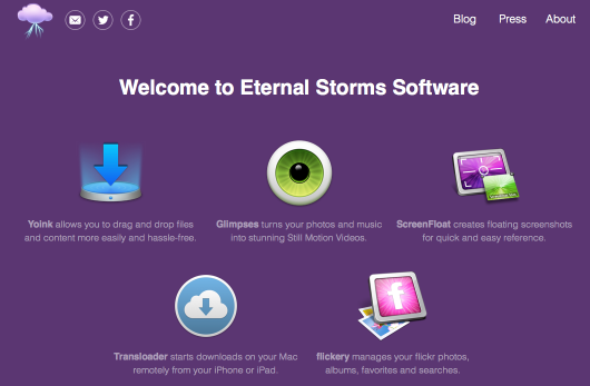 eternalstorms.at after recent update