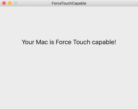 Force Touch Device Detection Example App Screenshot