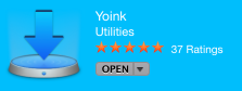 Yoink listing with Stars
