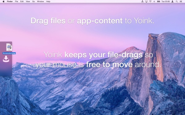 Old Mac App Store Screenshot of Yoink