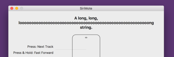 SiriMote AutoLayout Test (long string)