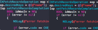 Comparison of AVFoundation capturing and screencapture's output