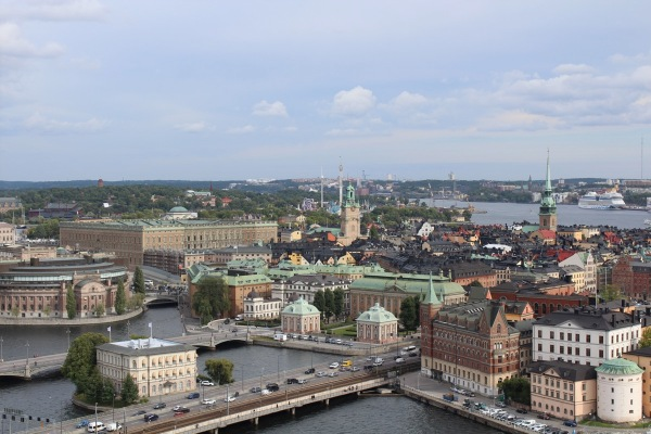 Stockholm from Stadshuset Tower