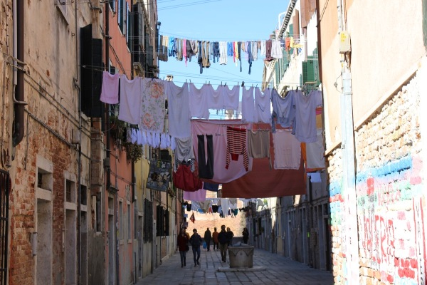 Venice, drying clothes
