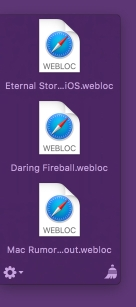 Yoink with webloc files without favicons