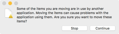 Finder error message when trying to move a still-being-written-to file